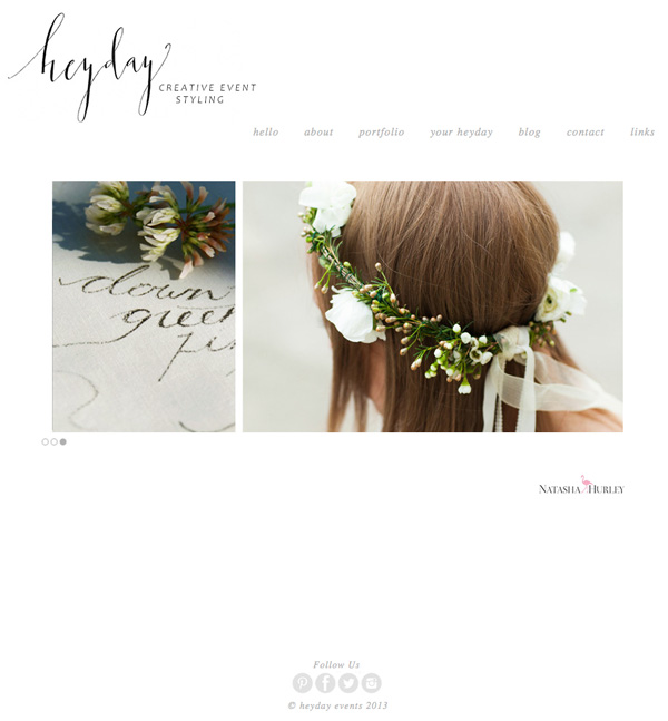 heyday website web design by imajaz