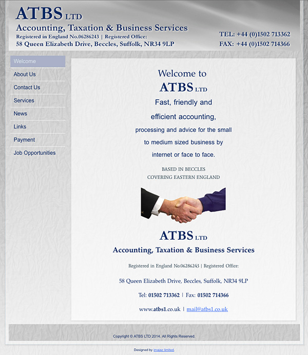 atbs accounting beccles design by imajaz
